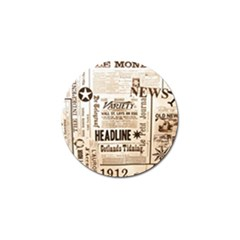 Vintage Newspapers Headline Typography Golf Ball Marker (4 Pack) by yoursparklingshop