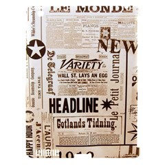 Vintage Newspapers Headline Typography Apple Ipad 3/4 Hardshell Case (compatible With Smart Cover) by yoursparklingshop