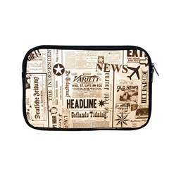 Vintage Newspapers Headline Typography Apple Macbook Pro 13  Zipper Case by yoursparklingshop