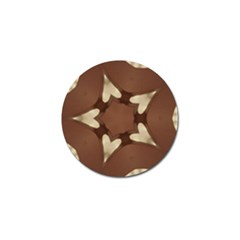 Chocolate Brown Kaleidoscope Design Star Golf Ball Marker by yoursparklingshop