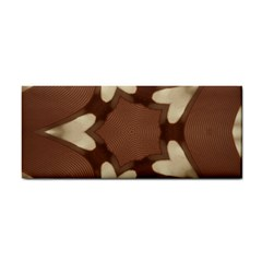 Chocolate Brown Kaleidoscope Design Star Cosmetic Storage Cases by yoursparklingshop