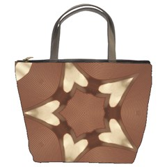 Chocolate Brown Kaleidoscope Design Star Bucket Bags by yoursparklingshop