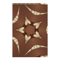 Chocolate Brown Kaleidoscope Design Star Shower Curtain 48  X 72  (small)  by yoursparklingshop