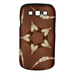Chocolate Brown Kaleidoscope Design Star Samsung Galaxy S Iii Classic Hardshell Case (pc+silicone) by yoursparklingshop