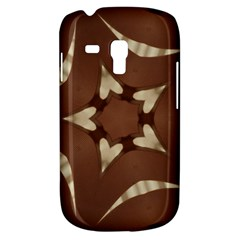 Chocolate Brown Kaleidoscope Design Star Galaxy S3 Mini by yoursparklingshop