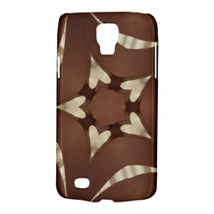 Chocolate Brown Kaleidoscope Design Star Galaxy S4 Active by yoursparklingshop