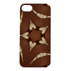 Chocolate Brown Kaleidoscope Design Star Apple Iphone 5s/ Se Hardshell Case by yoursparklingshop
