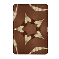 Chocolate Brown Kaleidoscope Design Star Samsung Galaxy Tab 2 (10 1 ) P5100 Hardshell Case  by yoursparklingshop