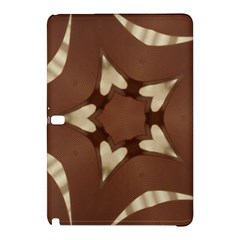 Chocolate Brown Kaleidoscope Design Star Samsung Galaxy Tab Pro 10 1 Hardshell Case by yoursparklingshop
