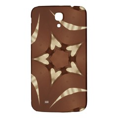 Chocolate Brown Kaleidoscope Design Star Samsung Galaxy Mega I9200 Hardshell Back Case by yoursparklingshop