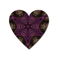Pink Purple Kaleidoscopic Design Heart Magnet by yoursparklingshop