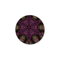 Pink Purple Kaleidoscopic Design Golf Ball Marker (10 Pack) by yoursparklingshop