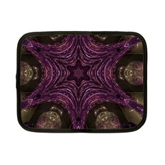 Pink Purple Kaleidoscopic Design Netbook Case (small)  by yoursparklingshop