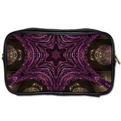 Pink Purple Kaleidoscopic Design Toiletries Bags 2 Side by yoursparklingshop