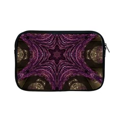 Pink Purple Kaleidoscopic Design Apple Ipad Mini Zipper Cases by yoursparklingshop