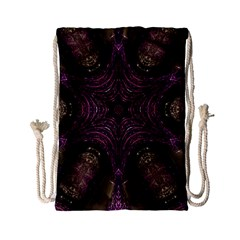 Pink Purple Kaleidoscopic Design Drawstring Bag (small) by yoursparklingshop