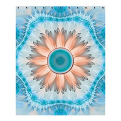 Clean And Pure Turquoise And White Fractal Flower Shower Curtain 60  X 72  (medium)  by jayaprime