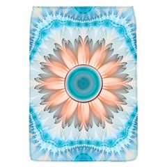 Clean And Pure Turquoise And White Fractal Flower Flap Covers (l)  by jayaprime