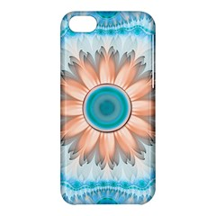 Clean And Pure Turquoise And White Fractal Flower Apple Iphone 5c Hardshell Case by jayaprime