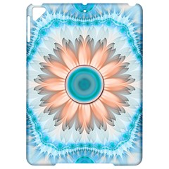 Clean And Pure Turquoise And White Fractal Flower Apple Ipad Pro 9 7   Hardshell Case by jayaprime