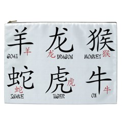Chinese Zodiac Signs Cosmetic Bag (xxl)