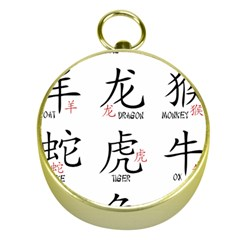 Chinese Zodiac Signs Gold Compasses