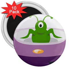 Ufo 3  Magnets (10 Pack)