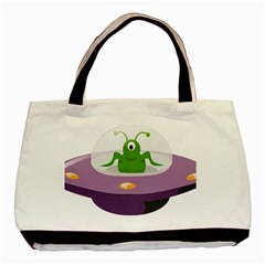 Ufo Basic Tote Bag (two Sides)