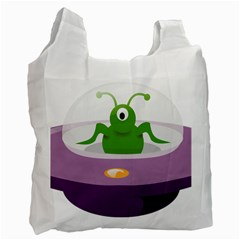 Ufo Recycle Bag (two Side)  by Celenk