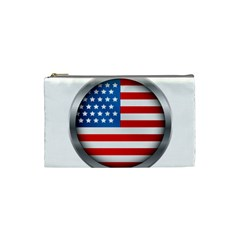 United Of America Usa Flag Cosmetic Bag (small)