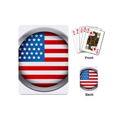 United Of America Usa Flag Playing Cards (mini)  by Celenk