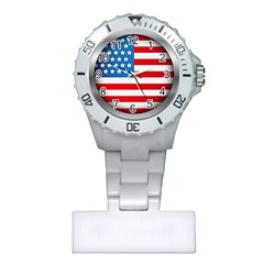 United Of America Usa Flag Plastic Nurses Watch by Celenk