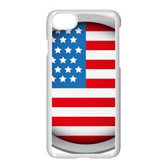 United Of America Usa Flag Apple Iphone 8 Seamless Case (white)