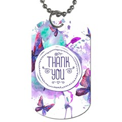 Thank You Dog Tag (one Side) by Celenk