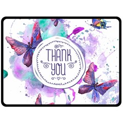 Thank You Fleece Blanket (large)  by Celenk