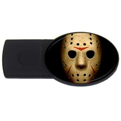 Jason Hockey Goalie Mask Usb Flash Drive Oval (4 Gb)