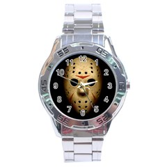 Jason Hockey Goalie Mask Stainless Steel Analogue Watch by Celenk