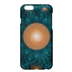 Beautiful Orange Teal Fractal Lotus Lily Pad Pond Apple Iphone 6 Plus/6s Plus Hardshell Case by jayaprime