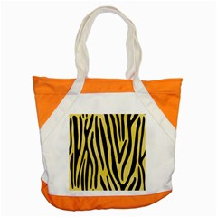 Skin4 Black Marble & Yellow Watercolor (r) Accent Tote Bag