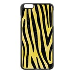 SKIN4 BLACK MARBLE & YELLOW WATERCOLOR (R) Apple iPhone 6 Plus/6S Plus Black Enamel Case Front