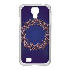 Blue Gold Look Stars Christmas Wreath Samsung Galaxy S4 I9500/ I9505 Case (white) by yoursparklingshop