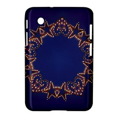Blue Gold Look Stars Christmas Wreath Samsung Galaxy Tab 2 (7 ) P3100 Hardshell Case  by yoursparklingshop