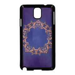Blue Gold Look Stars Christmas Wreath Samsung Galaxy Note 3 Neo Hardshell Case (black) by yoursparklingshop