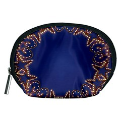Blue Gold Look Stars Christmas Wreath Accessory Pouches (medium)  by yoursparklingshop