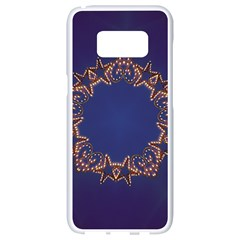 Blue Gold Look Stars Christmas Wreath Samsung Galaxy S8 White Seamless Case by yoursparklingshop