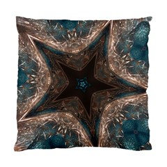 Kaleidoscopic Design Elegant Star Brown Turquoise Standard Cushion Case (two Sides) by yoursparklingshop
