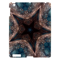 Kaleidoscopic Design Elegant Star Brown Turquoise Apple Ipad 3/4 Hardshell Case by yoursparklingshop
