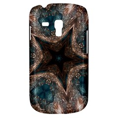 Kaleidoscopic Design Elegant Star Brown Turquoise Galaxy S3 Mini by yoursparklingshop