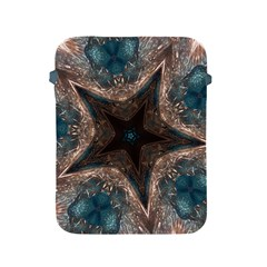 Kaleidoscopic Design Elegant Star Brown Turquoise Apple Ipad 2/3/4 Protective Soft Cases by yoursparklingshop