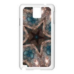 Kaleidoscopic Design Elegant Star Brown Turquoise Samsung Galaxy Note 3 N9005 Case (white) by yoursparklingshop